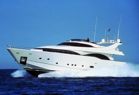 "The 94' ""VANILLA"" is the first motor yacht in the Ferretti Custom Line range ..."