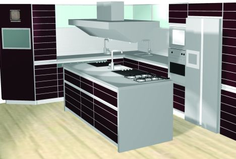 Schiffini Solaro. Large Preview Of D Model Of Schizzo Cucina Byron ...